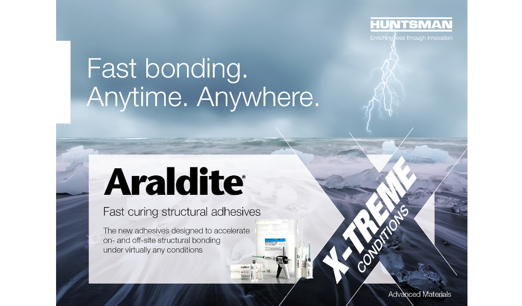 New fast-curing Araldite® adhesives from Huntsman Bodo Möller Chemie markets the newly introduced Araldite® 2050 and Araldite® 2051 methyl methacrylate adhesives