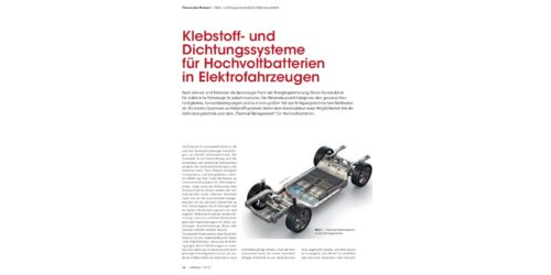 adhäsion KLEBEN & DICHTEN Ausgabe 7-8/19 - Klebstoff- und Dichtungssysteme für Hochvoltbatterien in Elektrofahrzeugen