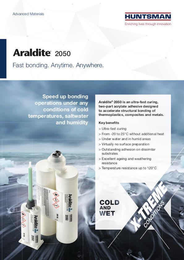 Araldite® 2050 - Fast Bonding. Anytime. Anywhere.
